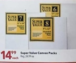 Super Value Canvas Packs