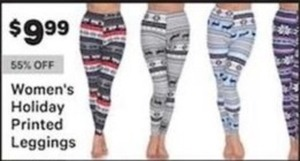 Women's Holiday Printed Leggings
