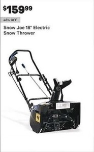 Snow Joe 18 Electric Snow Thrower
