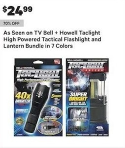 As Seen On TV Bell Howell Taclight High Powered Tactical Flashlight And Lantern Bundle