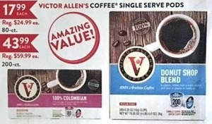 Victor Allen's Coffee Single Serve Pods 80-Ct.