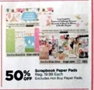 Scrapbook Paper Pads