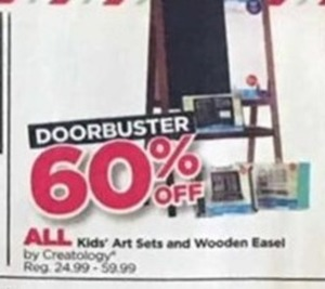 Kids' Art Sets and Wooden Easel