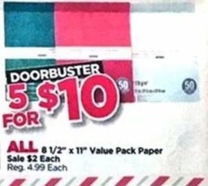 All 8 1/2''X11'' Value Pack Paper