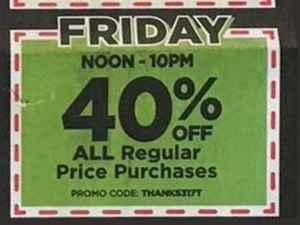 All Regular Price Purchases (Fri Noon-10pm)