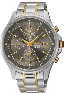 Seiko Two-Tone Chronograph Watch