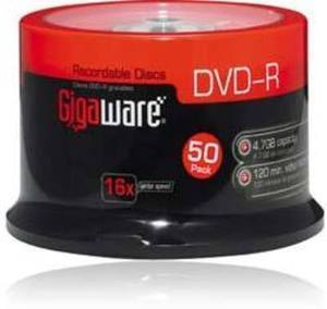 Gigaware 16x DVD-R Spindle (50-Pack)