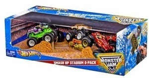 Hot Wheels Monster Jam Smash Up Stadium 5 Pack