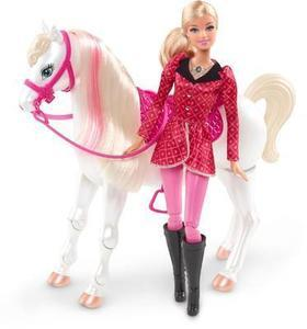 Barbie  Sisters in a Pony Tale Train and Ride RC Horse