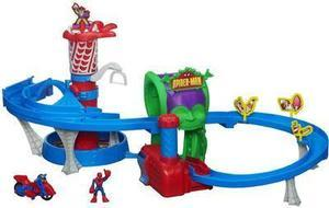 Spider-Man Adventures Web Racing Funhouse Playset