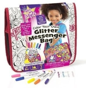 Just My Style Glitter Messenger Bag