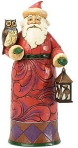 Jim Shore Santa with Owl & Lantern Collectible Figurine