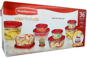 Rubbermaid 36 Pc Easy Find Lids