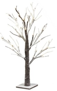 "Sarah Peyton Decorative 24""  LED Snow Tree w/ Card + Coupon"