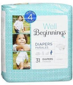 Well Beginnings Jumbo Pack Diapers w/ Card
