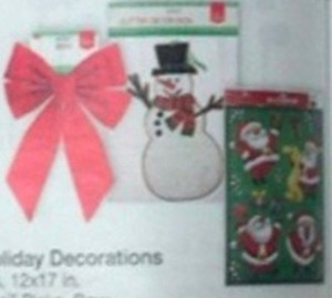 Select Holiday Decorations w/ Card