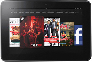 Kindle Fire HD 16GB Tablet + $50 Future Shopping Coupon
