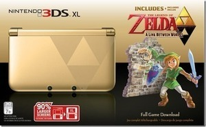 Nintendo 3DS XL Gold with Legend of Zelda: A Link Between + $20 Future Shopping Coupon