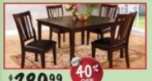 Bridgette 5-pc. Dining Table Set