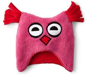 GiggleBaby Sherpa Fleece Owl Hat - Girls