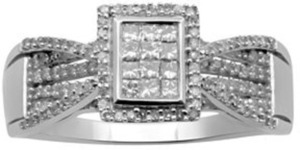1/2-ct. T.W. 10K White Gold Diamond Ring