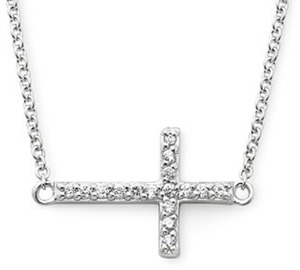 Sterling Silver 1/10-ct. T.W. Cross Pendant