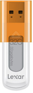 Lexar S50 32GB USB Flash Drive - Orange