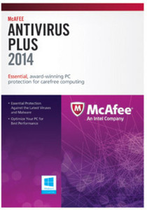 McAfree AntiVirus Plus 2014, 3 User