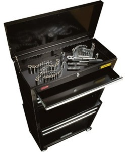 Stanley Rolling Tool Chest w/ Bonus 88 Pc Mechanical Tool Set