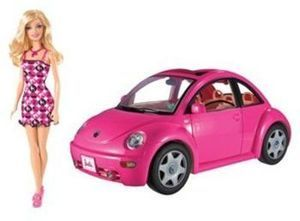 Barbie Volkswagen Beetle and Doll