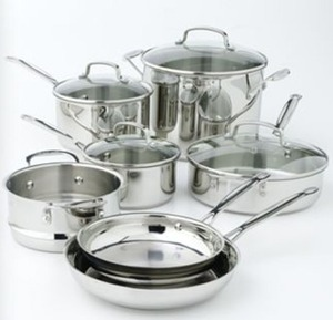 Cuisinart 11pc Stainless Steel Cookware Set