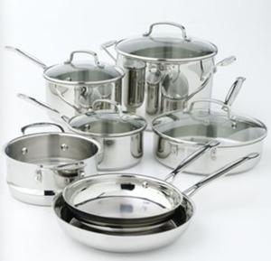 Cuisinart 11pc Stainless Steel Cookware Set