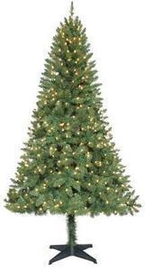 6.5' Pre-Lit Verde Pine Christmas Tree- clear lights