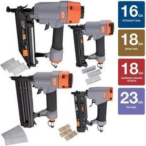HDX 4PC Pneumatic Finish Nailer Kit