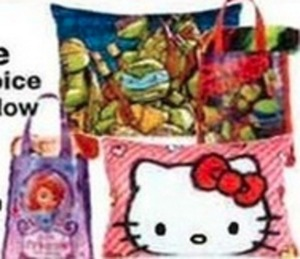Plush Pillow or Throw w/ Gift Tote