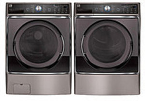 Kenmore 5.2 cu. ft. Front-Load Washer and 9.0 cu. ft. Dryer Bundle - Metalic Silver