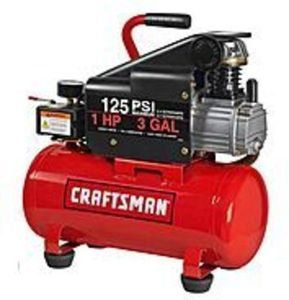Craftsman 3 Gallon Horizontal Air Compressor with Hose and Accessory Kit
