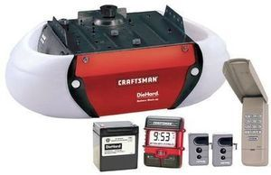 Craftsman DC-Powered Garage Door Opener w/  Battery Backup