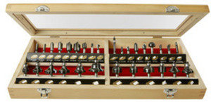Skil 30PC Carbide Tipped Router Bit Set