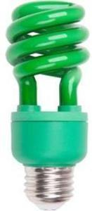 60W Equivalent Decorative CFL Bulb - Green