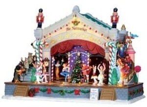 Carole Towne Christmas Porcelain Lighted Musical Animatronic Nutcracker Suite