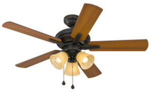 Harbor Breeze 42-in Lansing Aged Bronze Indoor Ceiling Fan with Light Kit