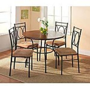 Whitney 5-pc Dining Set or Sauder 3-pc Faux Marble Trestle Table