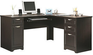 Realspace Magellan Collection L-Shaped Desk & Hutch