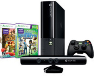Xbox 360 4GB Console Kinect Bundle w/ Kinect Adventures & Sports Games