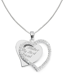 CZ Swing Heart Necklace