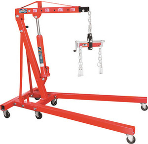 Torin Big Red 2-Ton Folding Shop Crane with Free Load Leveler