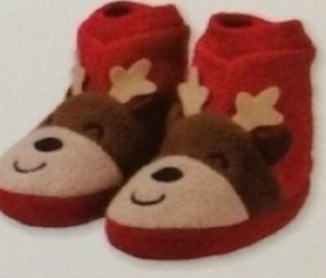 Holiday Baby Slippers