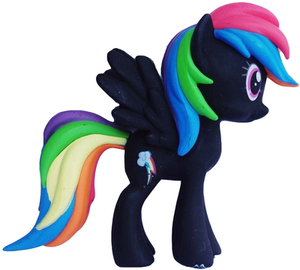 My Little Pony Black Rainbow Dash Pony