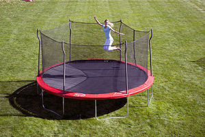 15' Propel Trampoline w/ Enclosure and Anchor Kit + Free Basketball System
